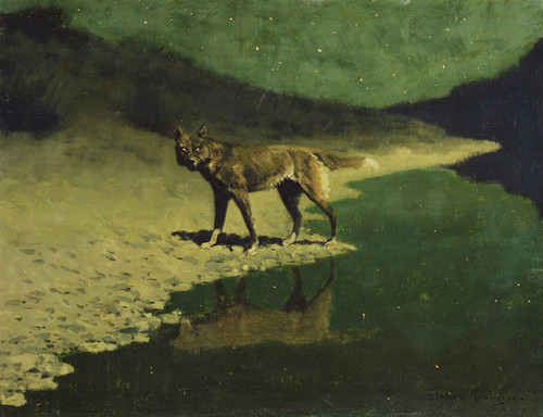 Art Prints of Moonlight Wolf by Frederic Remington