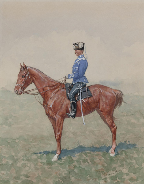 Art Prints of Prussian Cavalry on Horseback by Frederic Remington