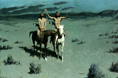 Art Prints of Pretty Mother of the Night by Frederic Remington