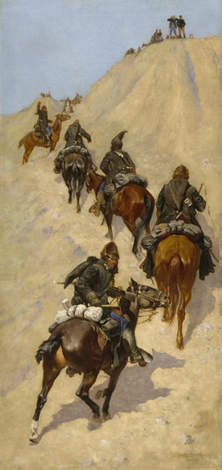 Art Prints of Scouts Climbing a Mountain by Frederic Remington