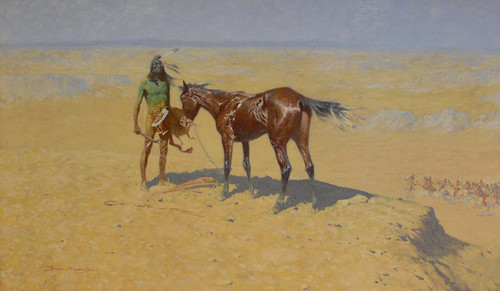 Art Prints of Ridden Down by Frederic Remington