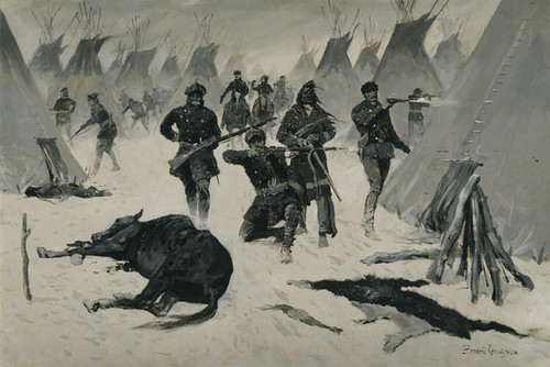 Art Prints of The Defeat of Crazy Horse by Frederic Remington
