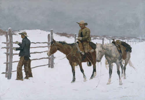 Art Prints of The Fall of the Cowboy by Frederic Remington