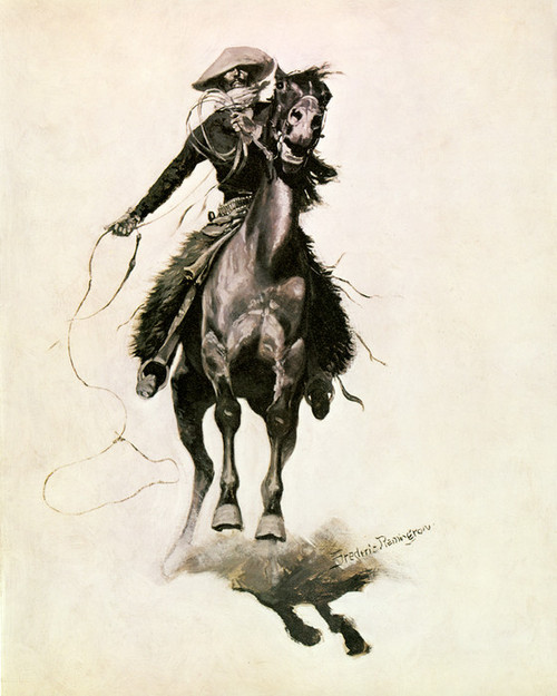 Art Prints of The Cow Puncher by Frederic Remington