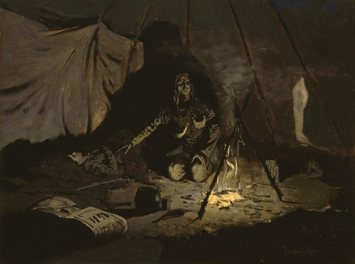 Art Prints of The Dry Leaves Lasted Longer Than She by Frederic Remington