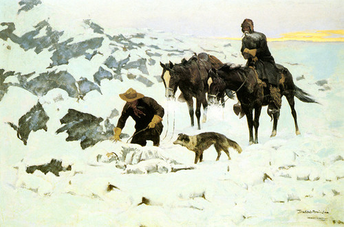 Art Prints of The Frozen Sheepherder by Frederic Remington