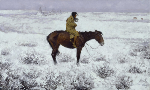 Art Prints of The Herd Boy by Frederic Remington