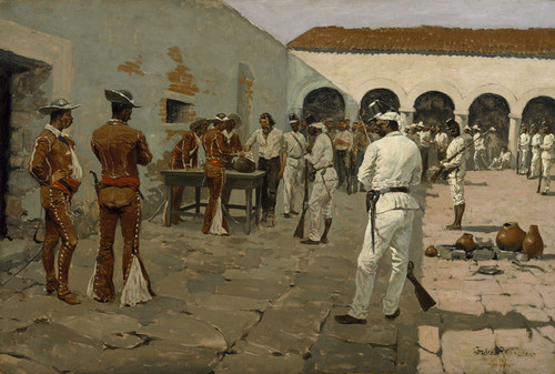 Art Prints of Mier Expedition, The Drawing of the Black Bean by Frederic Remington