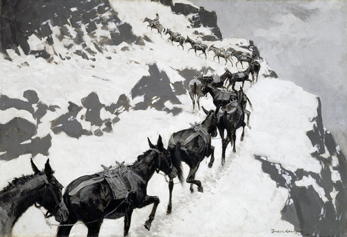 Art Prints of The Mule Pack by Frederic Remington