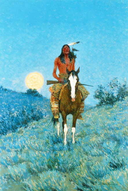 Art Prints of The Outlier by Frederic Remington