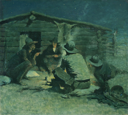 Art Prints of Untitled, or the Cigarette by Frederic Remington