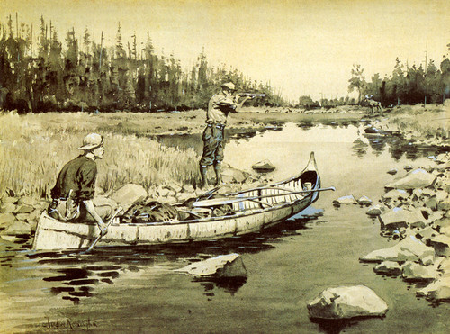 Art Prints of Unexpected Shot by Frederic Remington