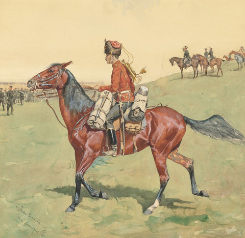 Art Prints of Hussar Russian Guard Corpse by Frederic Remington