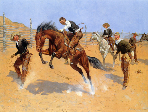 Art Prints of Turn Him Loose Bill by Frederic Remington