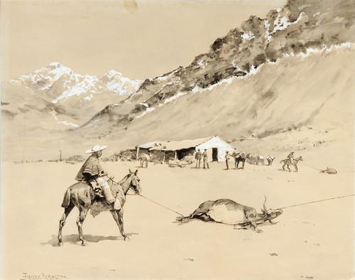 Art Prints of Santa Del Inca Roping Cattle at Punta Negra by Frederic Remington