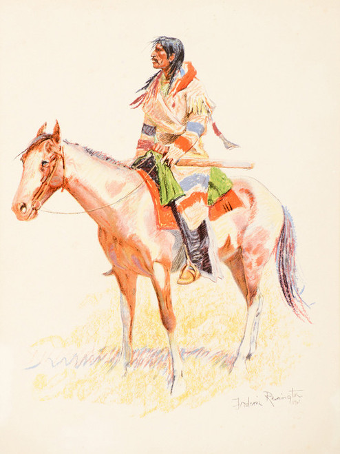 Art Prints of A Half Breed by Frederic Remington