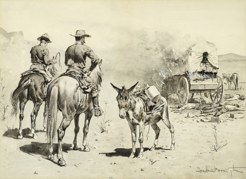 Art Prints of The Mexican Freight Wagon by Frederic Remington