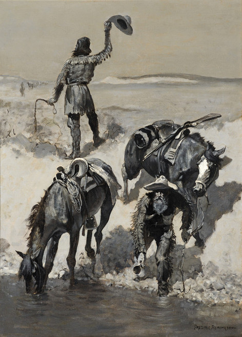 Art Prints of Water, 1890, by Frederic Remington