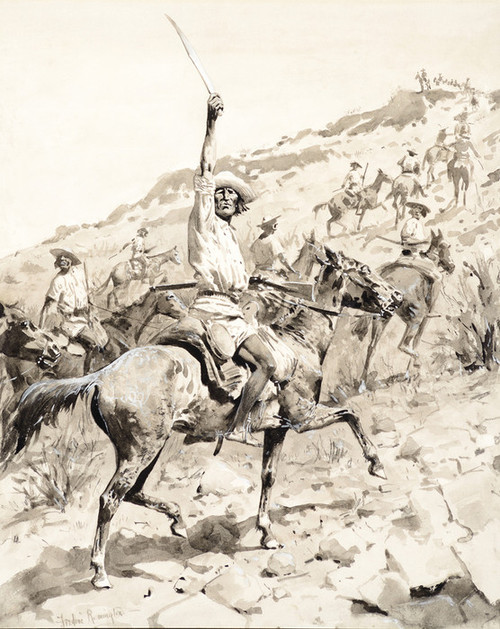 Art Prints of Uprising of the Yaqui Indians Yaqui Warriors by Frederic Remington