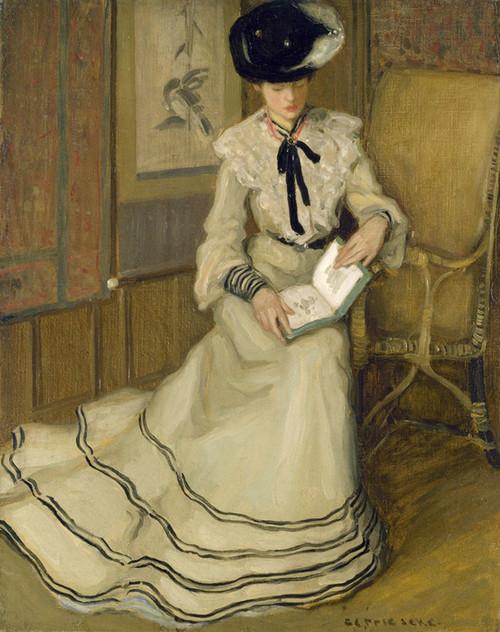 Art Prints of Girl Reading by Frederick Carl Frieseke