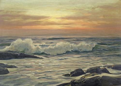 Art Prints of Seascape at Sunrise by Frederick Judd Waugh