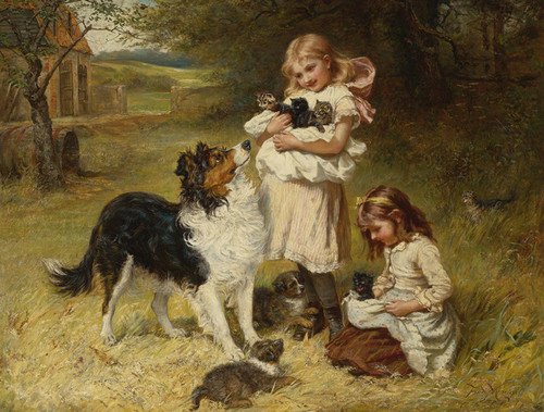 Art Prints of Rival Families by Frederick Morgan