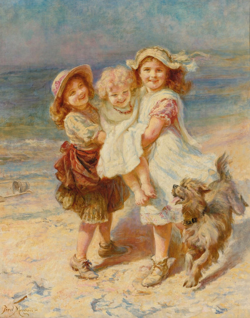 Art Prints of On the Beach by Frederick Morgan