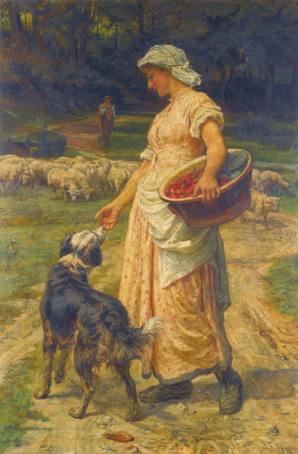 Art Prints of The Shepherdess by Frederick Morgan