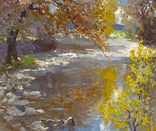 Art Prints of Reflections of Autumn by Fremont Ellis