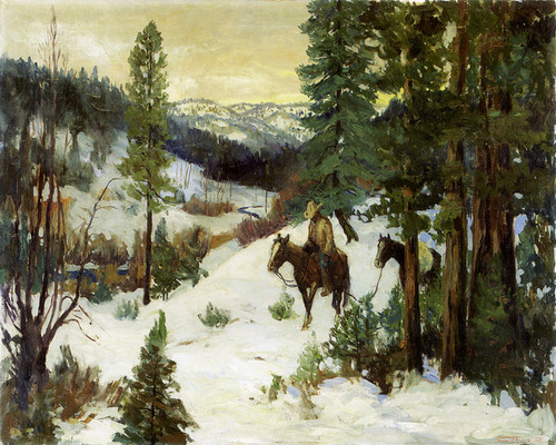 Art Prints of Tracking in Winter by Fremont Ellis