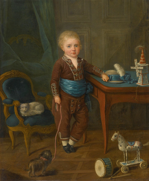Art Prints Of Portrait Of A Young Boy With His Toys