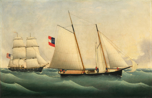 Art Prints of Capture of the Savannah by the U.S.S. Perry by Fritz Muller