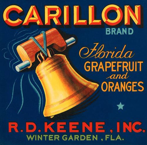 Art Prints of 004 Carillon Florida Grapefruit and Oranges, Fruit Crate Labels