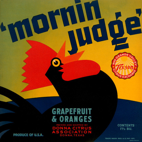 Art Prints of 024 'Mornin Judge' Grapefruit and Oranges, Fruit Crate Labels
