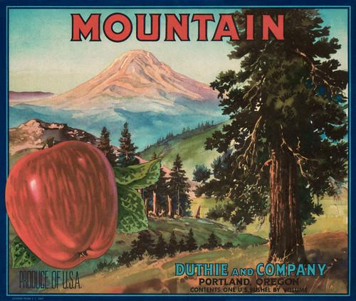 Art Prints of 038 Mountain Apples, Portland Oregon, Fruit Crate Labels