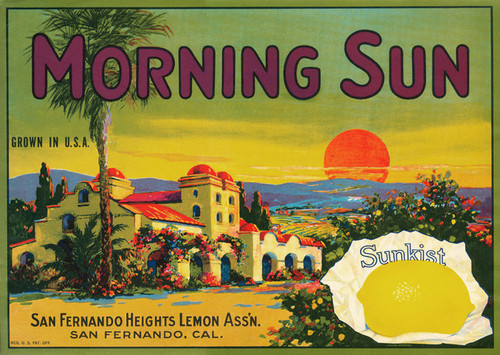 Art Prints of 043 Morning Sun Lemons, Fruit Crate Labels
