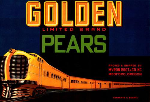 Art Prints of 047 Golden Pears, Fruit Crate Labels