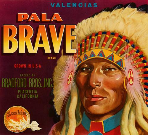 Art Prints of 048 Pala Brave Brand, Fruit Crate Labels
