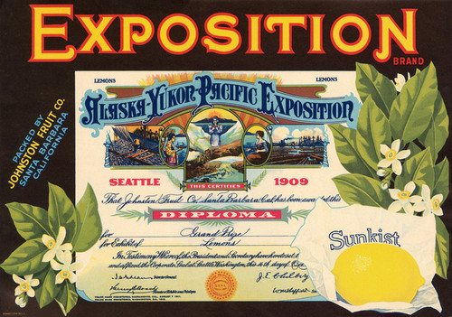 Art Prints of 045 Exposition Brand, Fruit Crate Labels