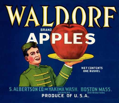 Art Prints of 050 Waldorf Apples, Fruit Crate Labels