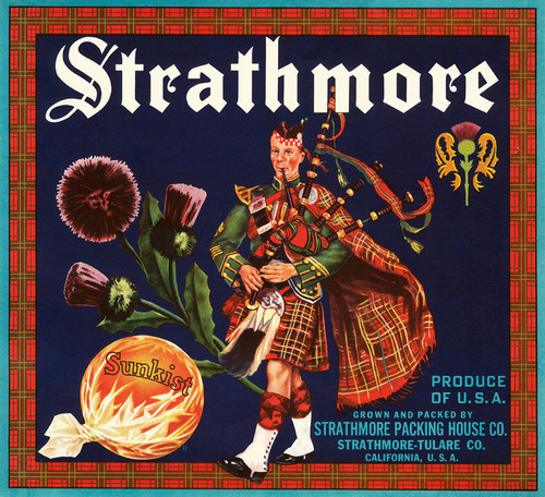 Art Prints of 052 Strathmore, Fruit Crate Labels