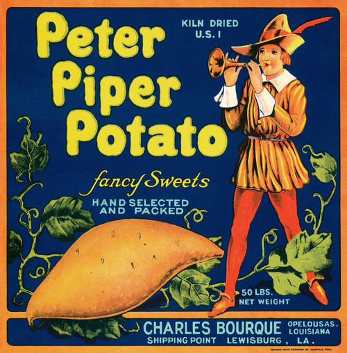 Art Prints of 057 Peter Piper Potato, Fruit Crate Labels