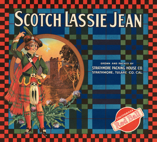 Art Prints of |Art Prints of 060 Scotch Lassie Jean, Fruit Crate Labels