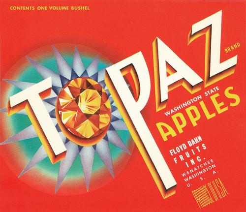 Art Prints of |Art Prints of 061 Topaz Apples, Fruit Crate Labels