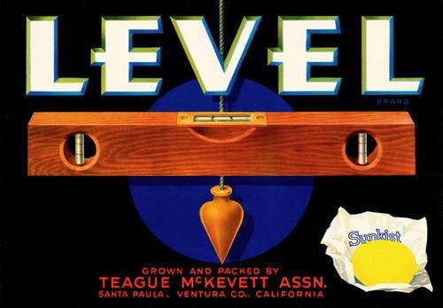 Art Prints of |Art Prints of 073 Level Brand Lemons, Fruit Crate Labels