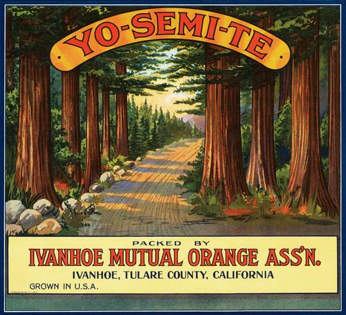 Art Prints of  Art Prints of 063 Yo-Semi-Te Oranges, Fruit Crate Labels