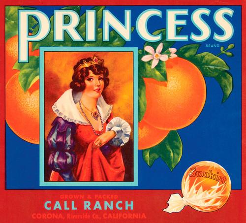 Art Prints of  Art Prints of 079 Princess, Fruit Crate Labels