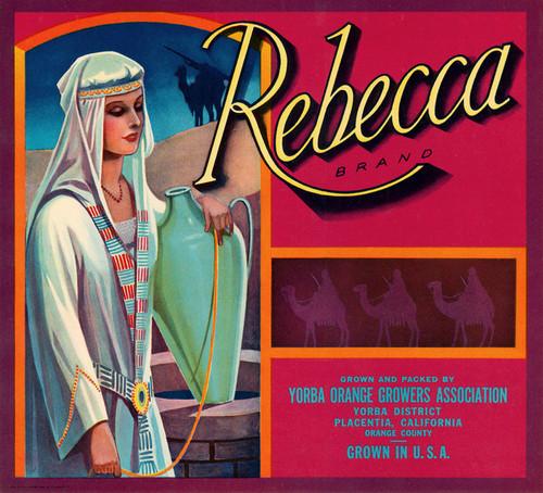 Art Prints of  Art Prints of 078 Rebecca Brand Oranges, Fruit Crate Labels