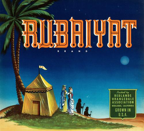 Art Prints of |Art Prints of 079 Rubaiyat Brand, Fruit Crate Labels
