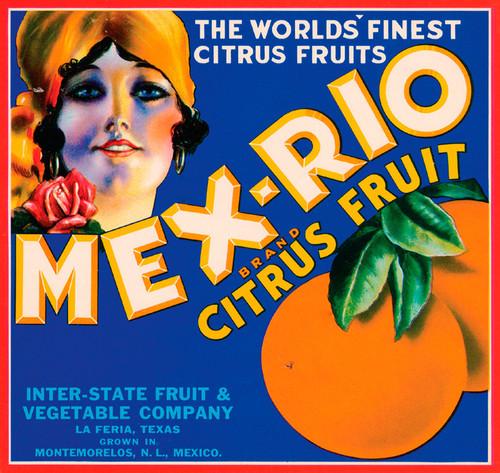 Art Prints of |Art Prints of 086 Mex-Rio Citrus Fruit, Fruit Crate Labels